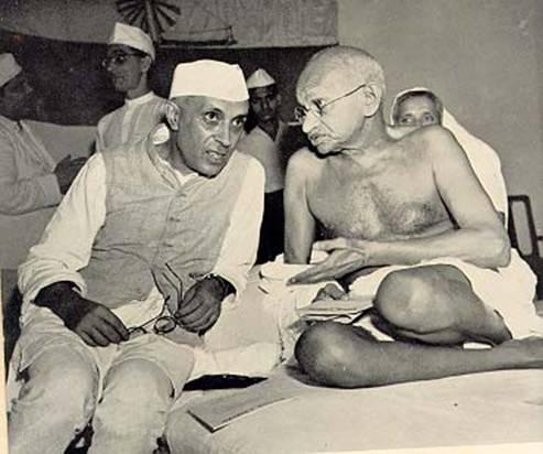 நேரு, காந்தி