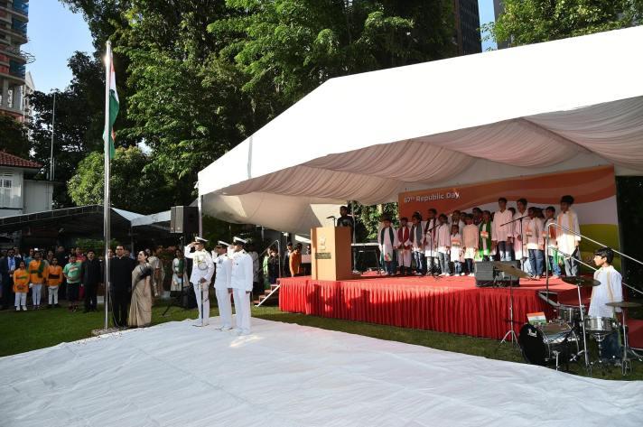 தாயின் மணிக்கொடி, குடியரசு தினம் 2016 - Img (c) Indian Embassy Singapore